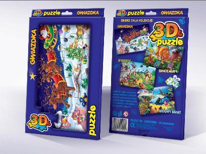 Trójwymiarowe Puzzle dla dzieci Gwiazdka 3D