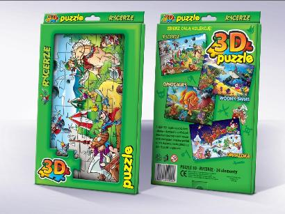Trójwymiarowe Puzzle dla dzieci Rycerze 3D