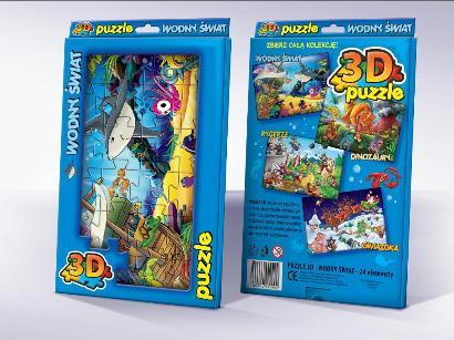Trójwymiarowe Puzzle dla dzieci Wodny Świat 3D